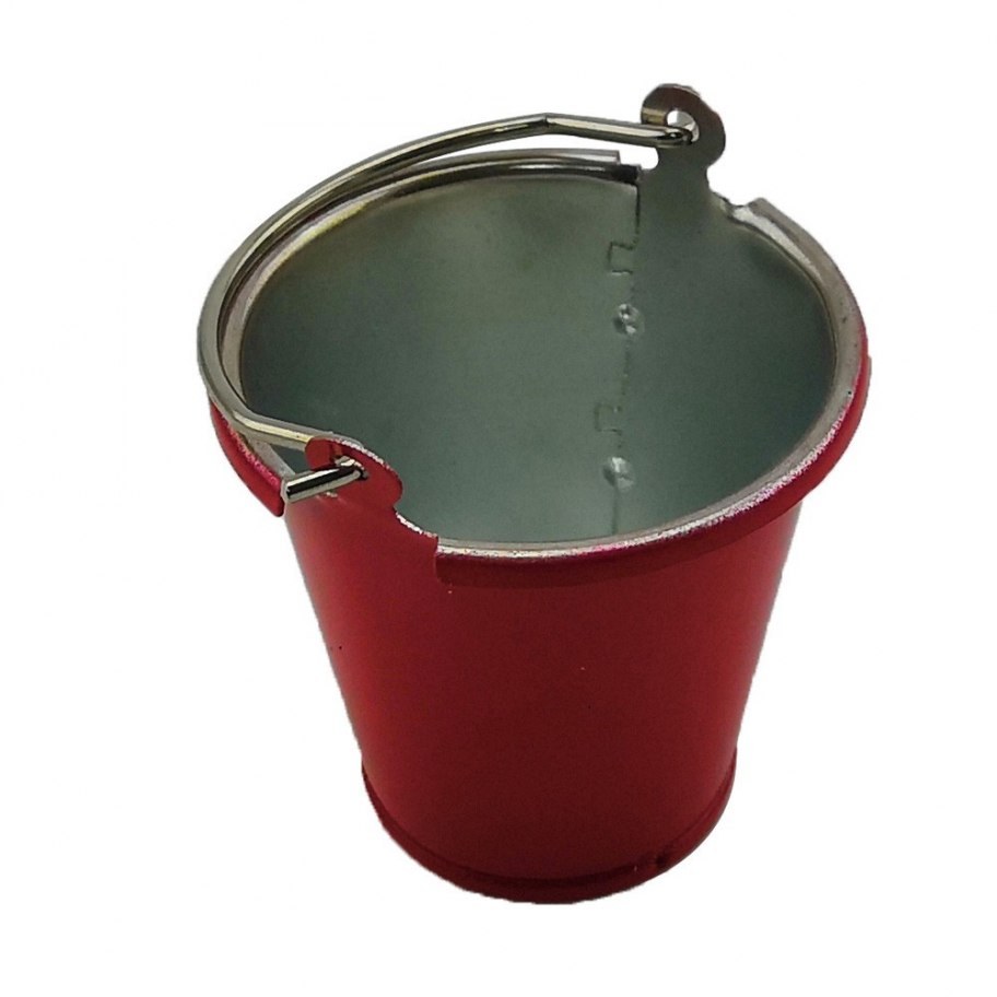 RCparts 1/10 Scale Crawler Metal Bucket Red (1Pc)