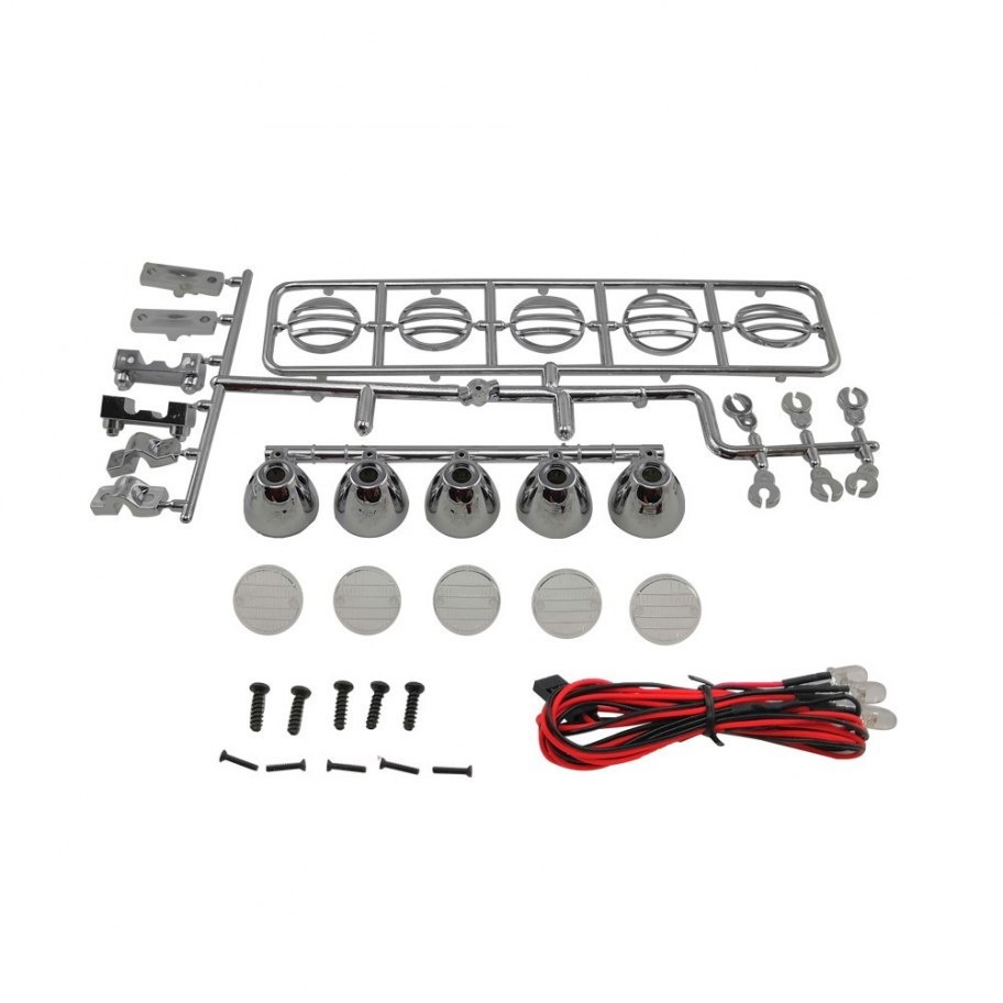 Kit Luces Led Techo Redondo 115mm 1/10 Crawler - Silver RCparts