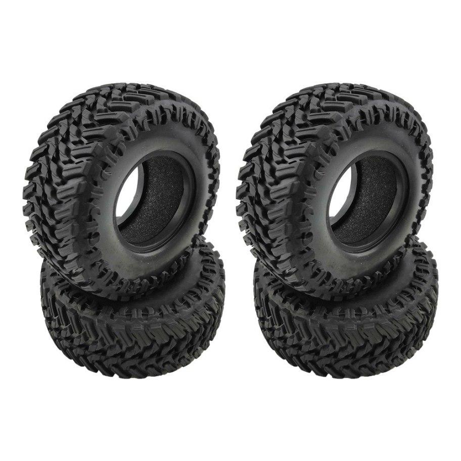 "RCparts Rampage 1.9"" Crawler Tires W/Foam Ø107mm (4Pcs)"