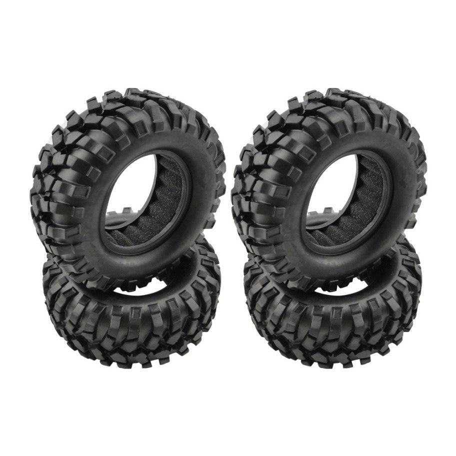 """RCparts Plunk 1.9"""" Crawler Tires W/Foam Ø95mm (4Pcs)"""