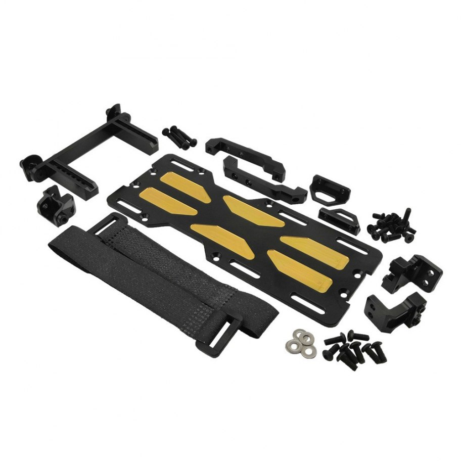 Kit Montaje Servo Delantero + Bandeja Bateria Bronce Traxxas TRX-4 RCparts