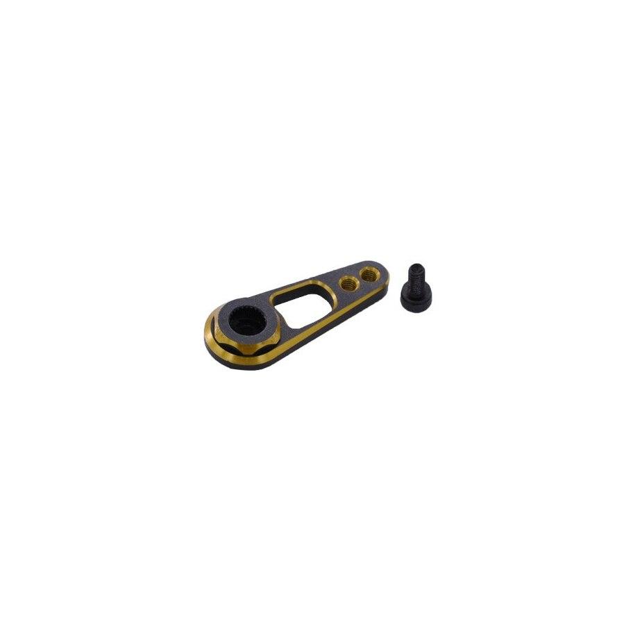 RCparts Traxxas TRX-4 Aluminum Steering Servo Horn Black/Gold (25T)