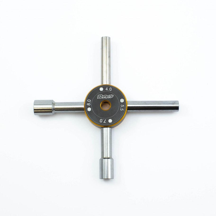 RCparts 4-In-1 Cross Wrench 4.0//5.5/7.0/8.0mm