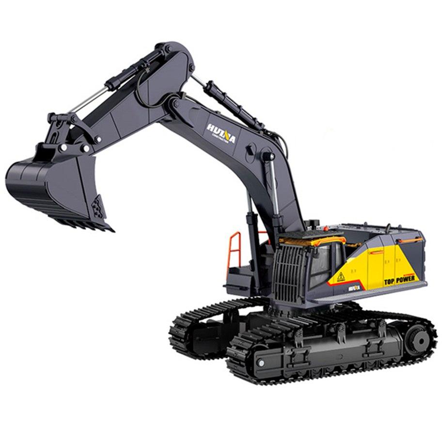 Huina 1/14Th Rc Excavator 2.4G 22Ch W/Die Cast Cab, Bucket