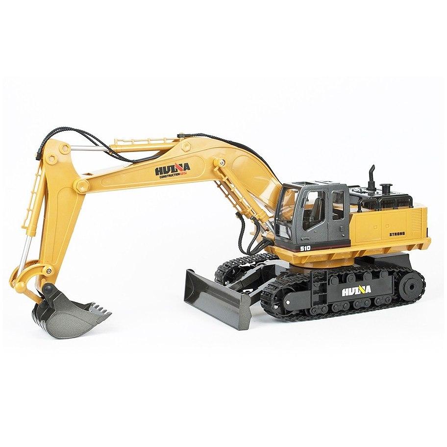 Huina 1/16 Scale Rc Excavator 2.4G 11Ch W/Die Cast Bucket