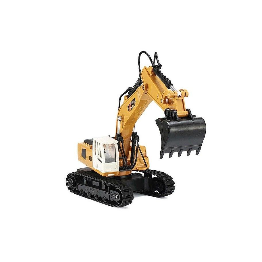 Huina 2.4G 9Ch Rc Excavator 1:18