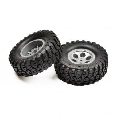 RGT 136100V2 Pre-Mounted Tire Set Type 1 (Grey)