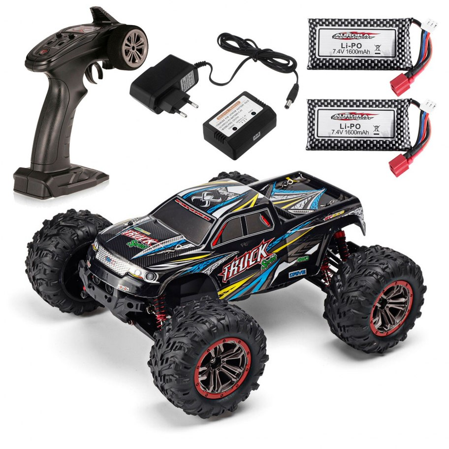 RC Car XLH 9125 1/10 Monster Truck 4X4 Ready To Run | Include 2 Batteries
