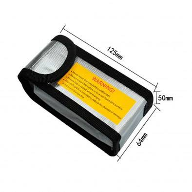 Bolsa Carga LiPo RCparts 6.4X5X12.5Cm (Ignifuga)