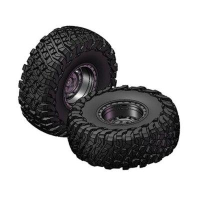 RGT 2.2 Inch Preglue Tire & Wheel Set ( Black )...