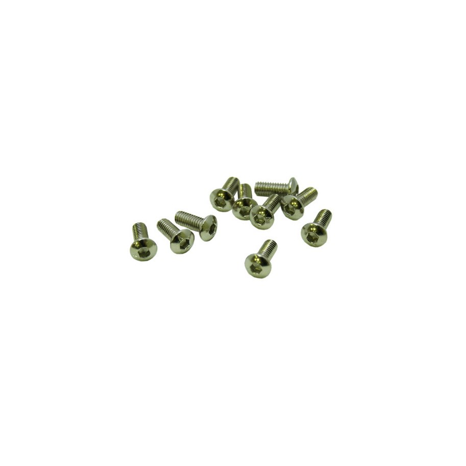 Ultimate Racing M3X6mm Button Head Screws (10 Pcs)