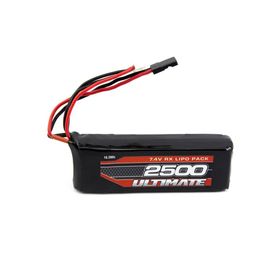 Batería LiPo Receptor Plana 7.4v. 2500mAh Ultimate Racing (JR)