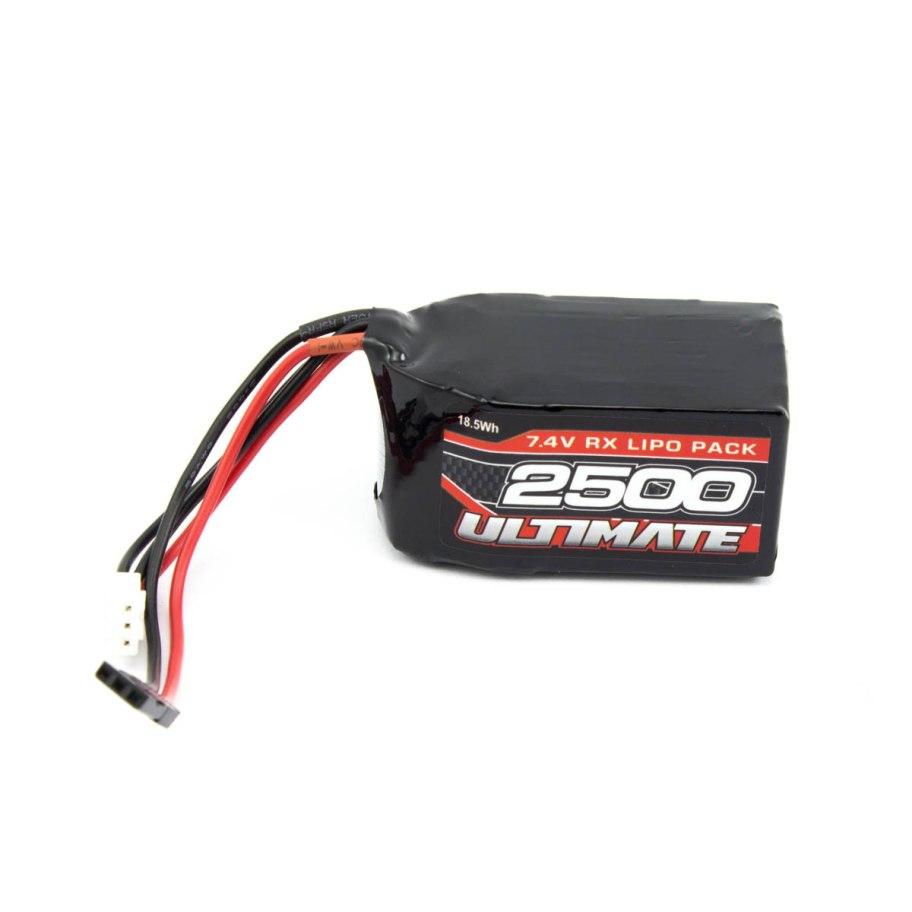 Batería Ultimate LiPo Receptor Cuadrada 7.4v. 2500mAh Conexión JR