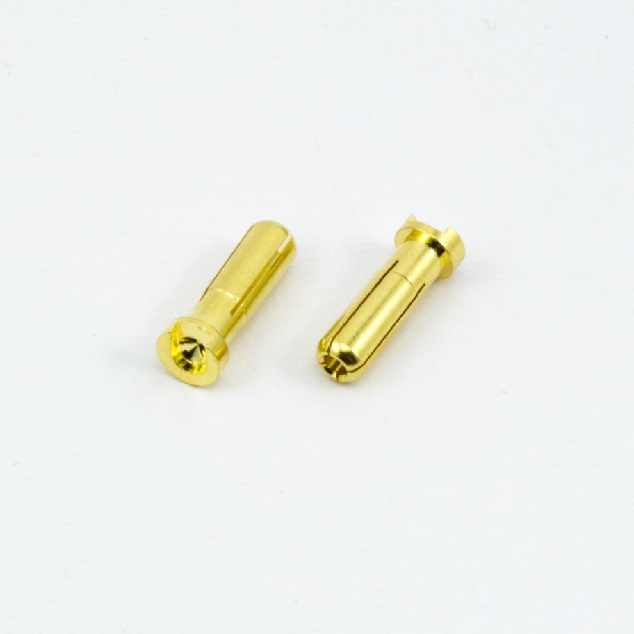 Ultimate Racing 5.0mm Bullet Connector Male (2Pcs)