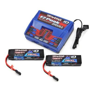 Cargador Traxxas EZ-Peak Dual + 2X LiPo 7,4V...