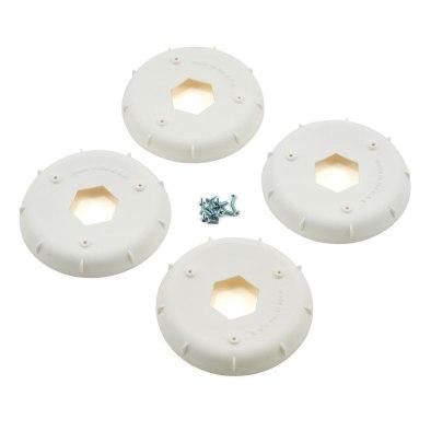 AKA Evo 1/8Th Wheel Stiffener (White) (4)