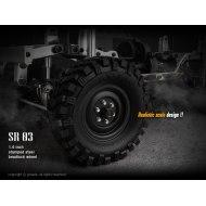 Gmade 1.9 SR03 Gris (2) | Llantas Crawler Beadlock