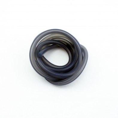 Tubo Silicona Negro Translucido 1M