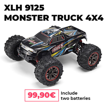 XLH 9125 RC + two batteries